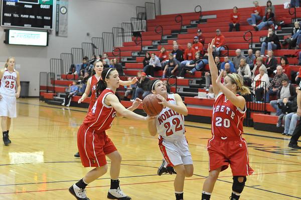 Var Girls Basketball vs Crete, 1-15-11