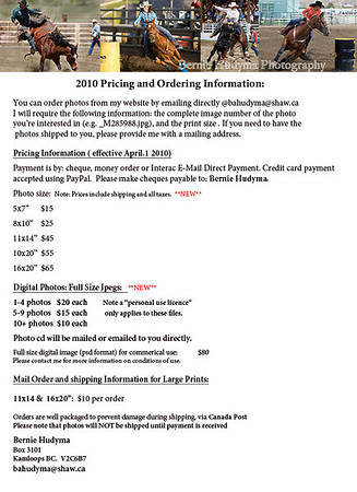 2010 Price List and Ordering Info