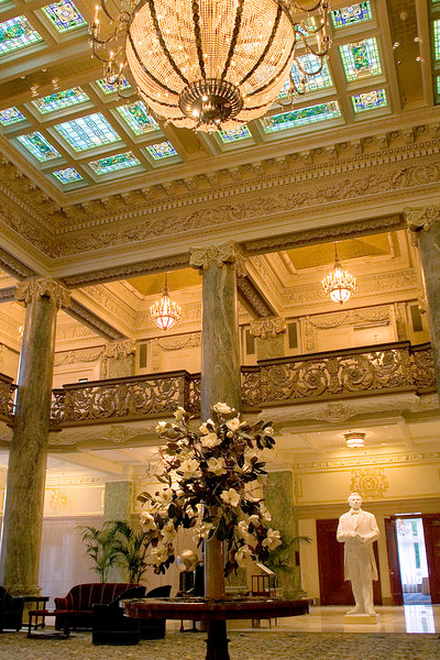 """Interior of the Joseph Smith Memorial Building.  We saw the """"Joseph Smith the Prophet of the Restoration"""" movie in the Legacy theater.  It was great!  Made Cly remember why he served a mission for the Church way back in 1991."""