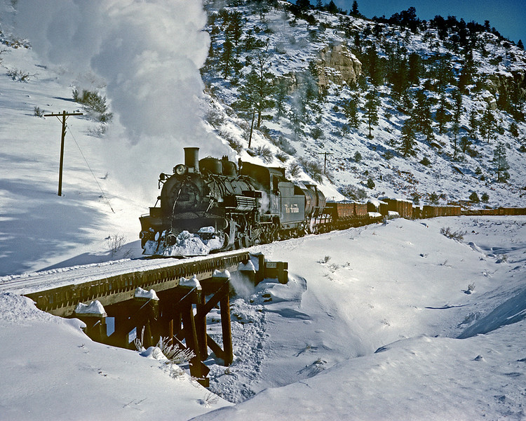 December 19, 1961. Westbound in Monero canyon.