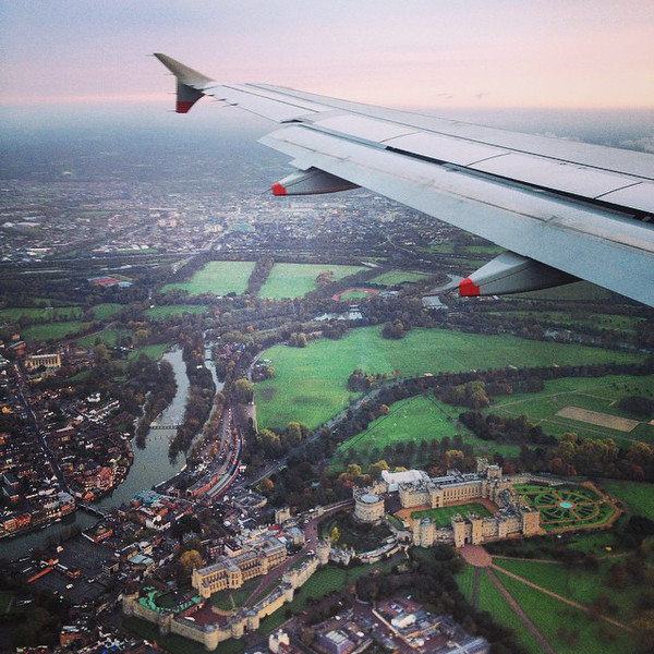 Up in the Air: Flying Over Windsor Castle