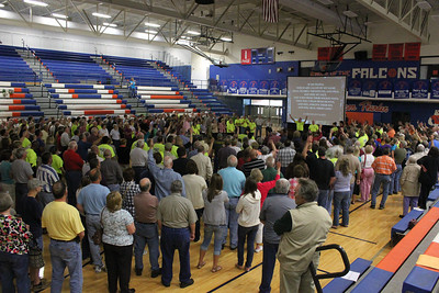 Prayer Rally Volunteer High School 1,000 participants, March 2012