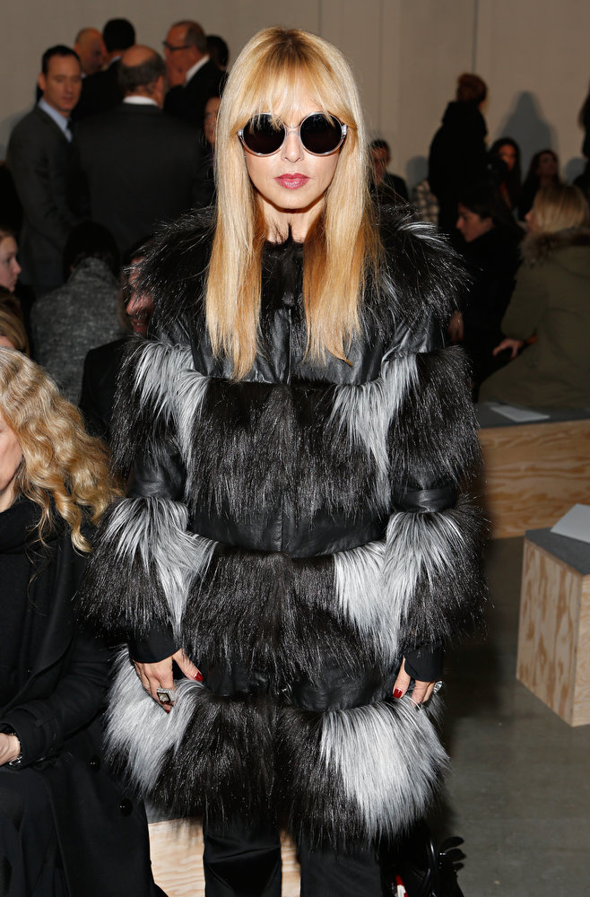 Description of . Rachel Zoe attends the Reed Krakoff fall 2013 fashion show during Mercedes-Benz Fashion Week on February 13, 2013 in New York City.  (Photo by Cindy Ord/Getty Images)