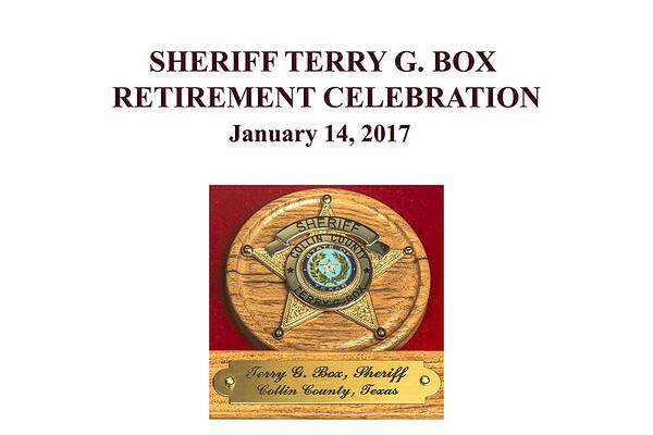 SHERIFF TERRY BOX RETIREMENT CELEBRATION