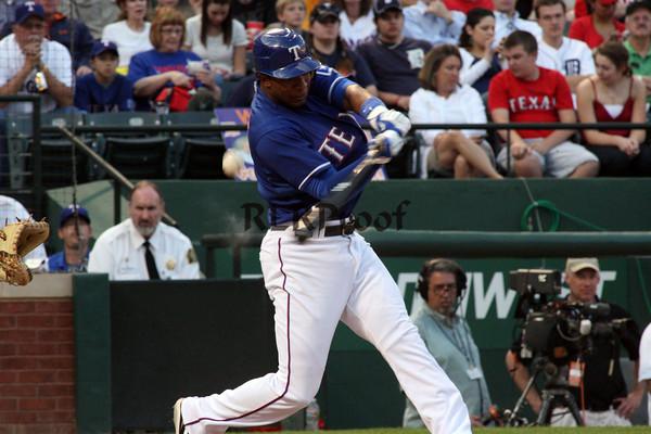 Texas Rangers vs Detroit Tigers April 24, 2010
