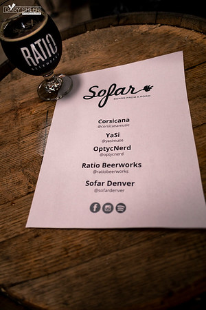 Sofar Denver | Gary Sheer Photography | Corsicana, YaSi, OptycNerd | Ratio Beerworks | 05.20.2019