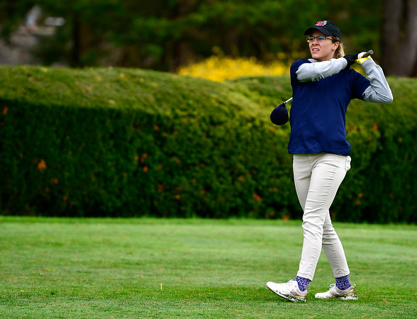 4/30/2019 Mike Orazzi   Staff Bristol Eastern's Olivia Beaudoin during Tuesday's match with Bristol Central at Chippanee Golf Club.