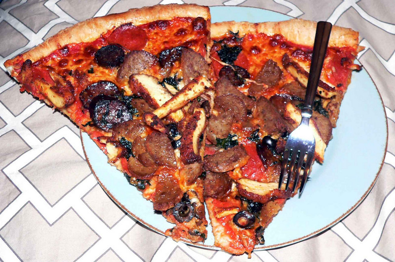Pizza from Bleeker St Pizza in NYC....YUM
