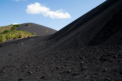 Base of the Cerro Negro Volcano