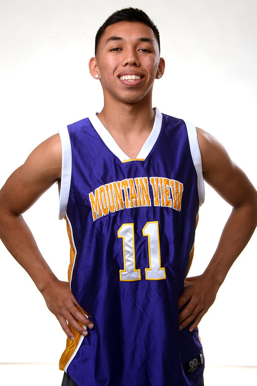 . Mountain View\'s Isaih Mendoza, All-Area basketball Players at the San Gabriel Valley Tribune in West Covina, Calif., on Tuesday, April 8, 2014.  (Keith Birmingham Pasadena Star-News)