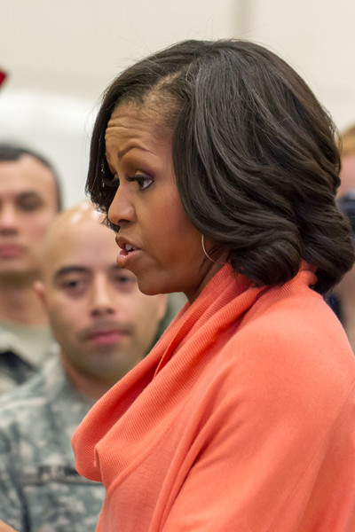 First Lady Michelle Obama Assists Toys for Tots