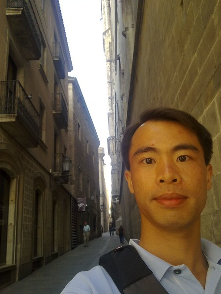 JC at Gothic qtr in Barcelona