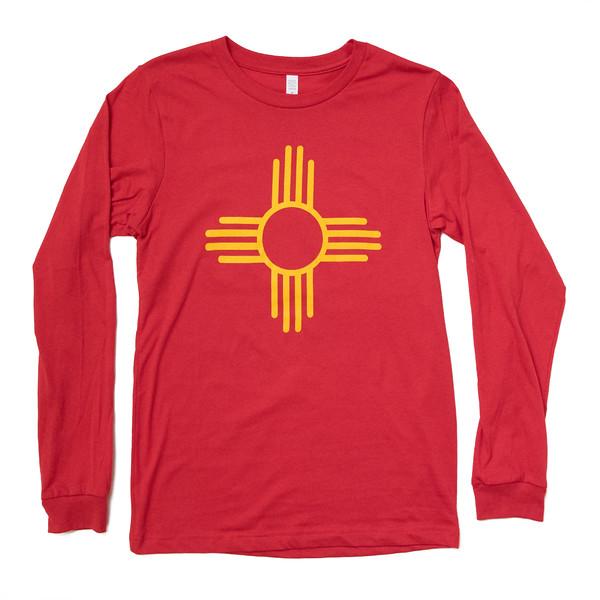 Organ Mountain Outfitters - Outdoor Apparel - Mens T-Shirt - Zia Sun Symbol Long Sleeve Tee - Red.jpg