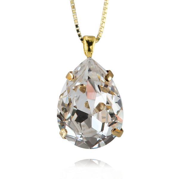 Classic Drop Necklace / Crystal Gold