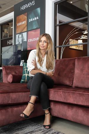 26/5/19 - Harveys - Louise Redknapp visits Lakeside store