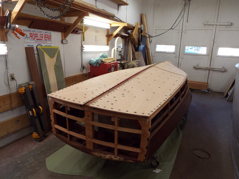 Rear view with the first layer of bottom installed on both sides.