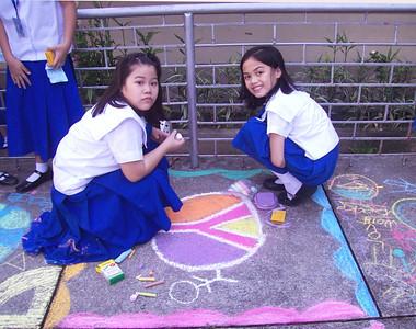 CHALK4PEACE 2010 St. Bridget School Quezon City, Philippines