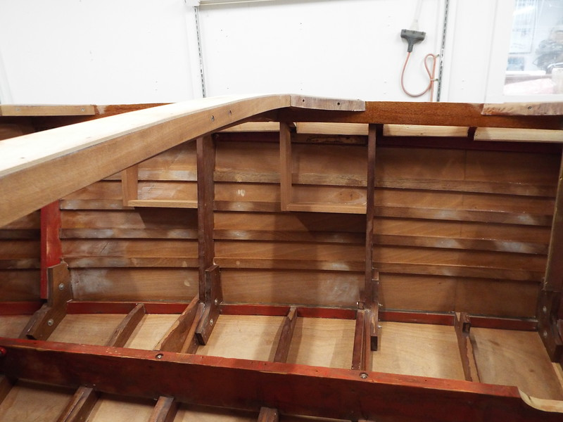 New starboard side storage compartments made and installed.