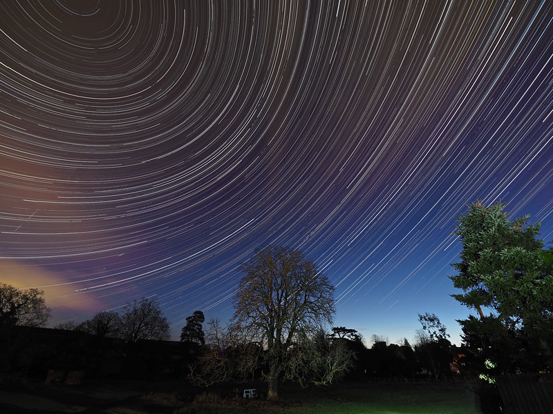 December Star Trail