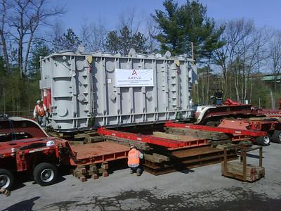 PSNH 480,000 pound Transformer April 14th 2010