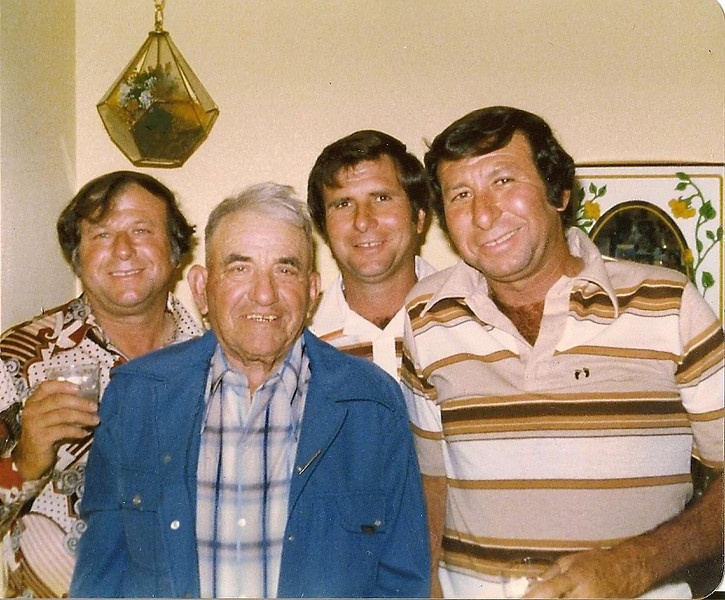 Angelo, Vittorio, Bob, and Buck in the 1970s.