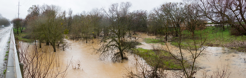 2017 Putah Creek and tribs flooding