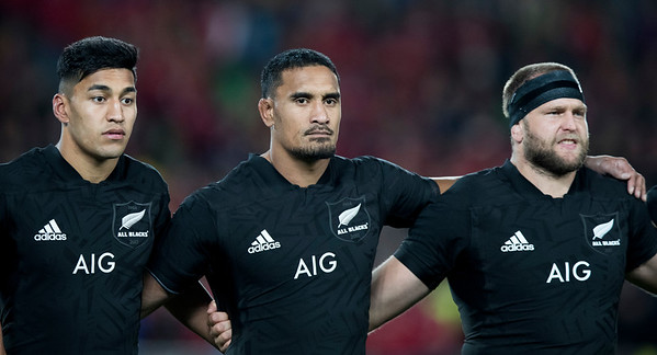 Joe Moody Jerome Kaino Rieko Ioaneduring game 7 of the British and Irish Lions 2017 Tour of New Zealand, the first Test match between  The All Blacks and British and Irish Lions, Eden Park, Auckland, Saturday 24th June 2017 (Photo by Kevin Booth Steve Haag Sports)  Images for social media must have consent from Steve Haag