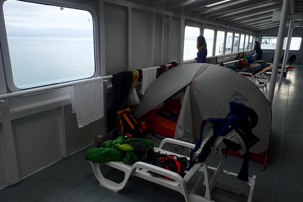 tent on ferry