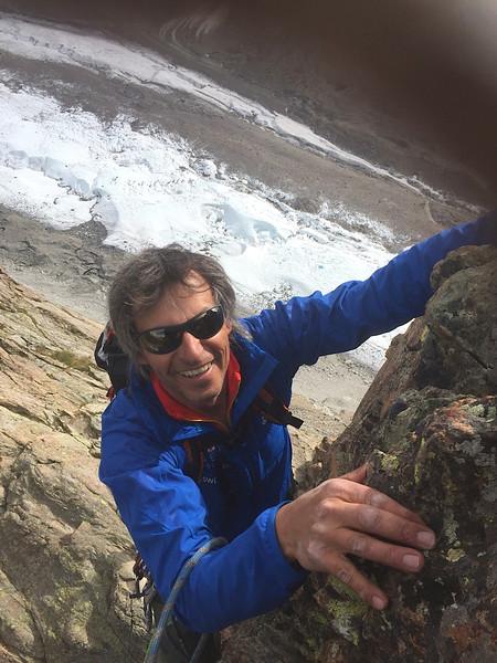 Swiss Guide Christoph climbing on Riffelhorn