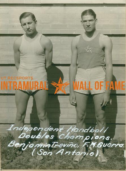 HANDBALL Independent Doubles Champions  San Antonio  Benjamin Treviño & F. M. Guerra