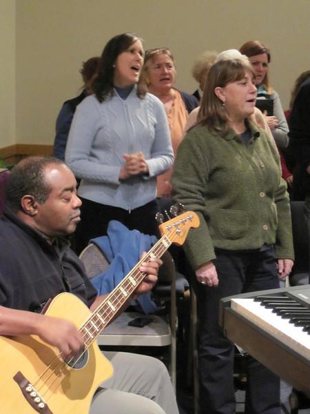 The Gospel Gang rehearses in Lenox 121013