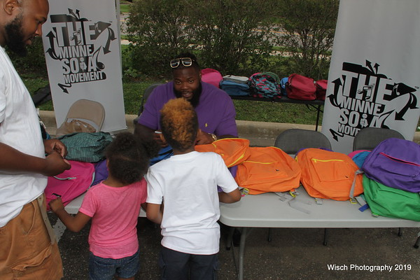 Linval Joseph BackPacks for Kids Sept 2019