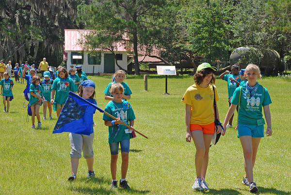 Girl Scouts descend upon Hofwyl-Broadfield Plantation 06-19-12