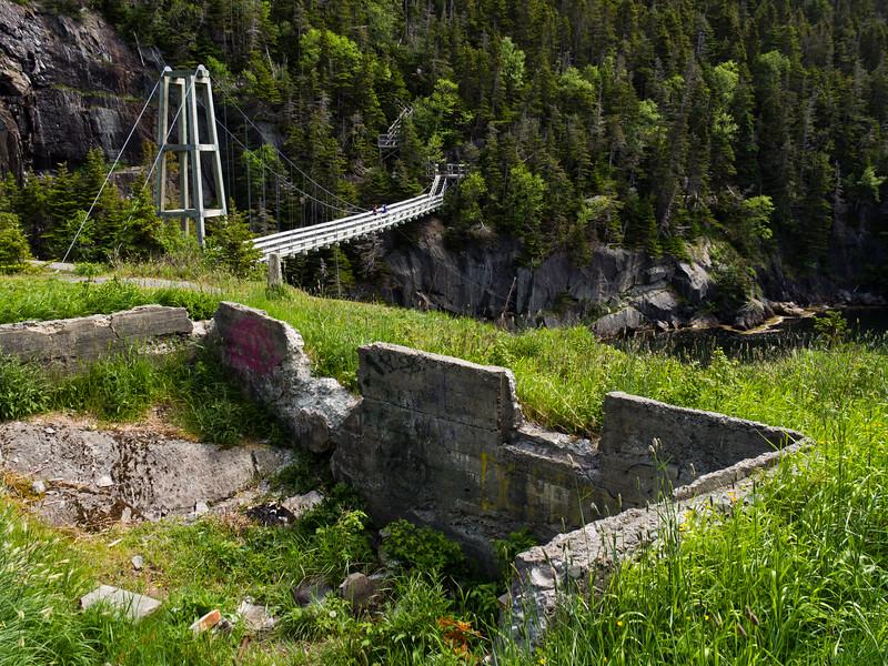 La Manche village Ruins and Bridge
