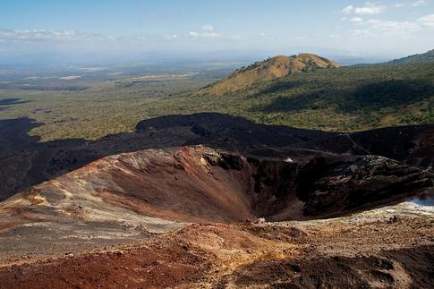 Main crater of the Cerro Negro Volcano