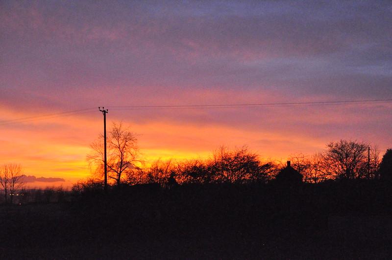 Sunset over Old Quarrington - 1 - 29th Jan 12 - Richard Cowen.jpg