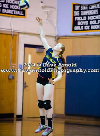 9/23/2014 - Girls Varsity Volleyball - Braintree vs Needham