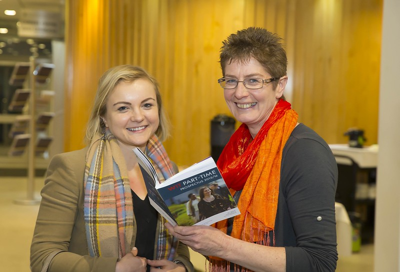 23/02/2016. Free To Use Image. Pictured at WIT (Waterford Institute Of Technology) Adult Learner Information Evening are Inga Scosarova, Waterford and Ann Dunphy WIT. Picture: Patrick Browne