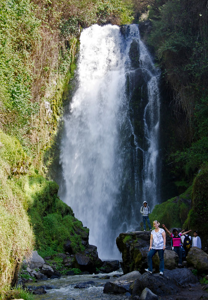 Peguche Waterfall and Sue