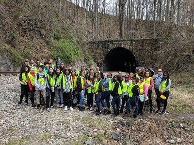 4.19.18 Union Dam Trail Cleanup with Thomas Viaduct Middle School