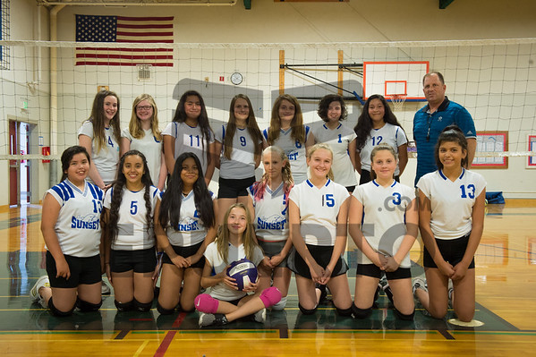 SUNSET MIDDLE SCHOOL VOLLEYBALL TEAM
