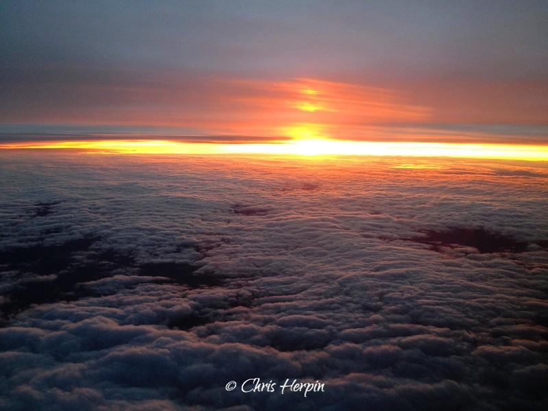 Sunrise over Utah.