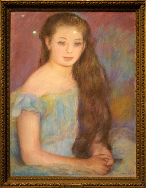 Pierre-Auguste Renoir. Dark-haired girl with blue eyes