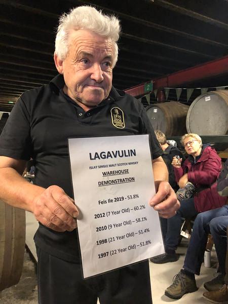 Warehouse tasting at Lagavulin Distillery
