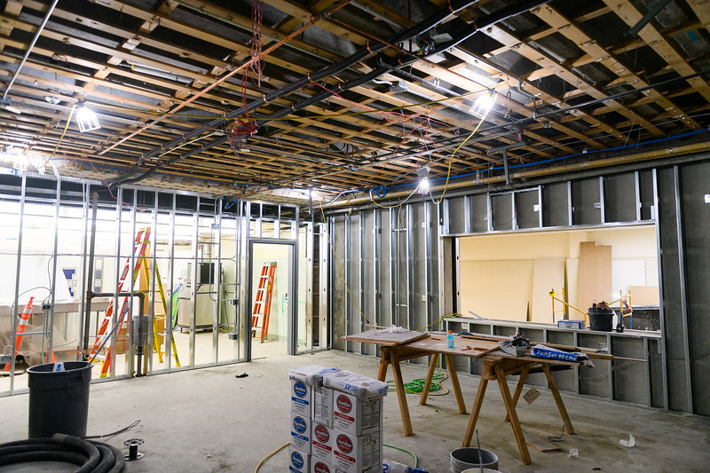 New framing for McNary High School's student store on Friday, August 16, 2019, in Keizer, Ore.