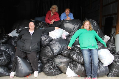 Clothing Drive, 300 Bags Collected, Class of 2017, Citizens Fire Company, Tamaqua (4-26-2014)