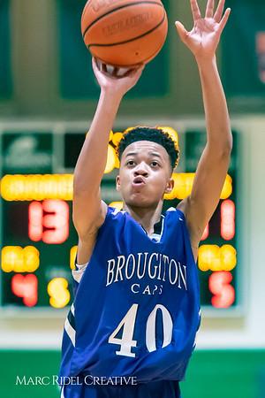 Broughton JV boys basketball vs Cardinal Gibbons. February 7, 2019. 750_3326
