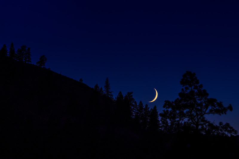 Day 206: Moon over the hill