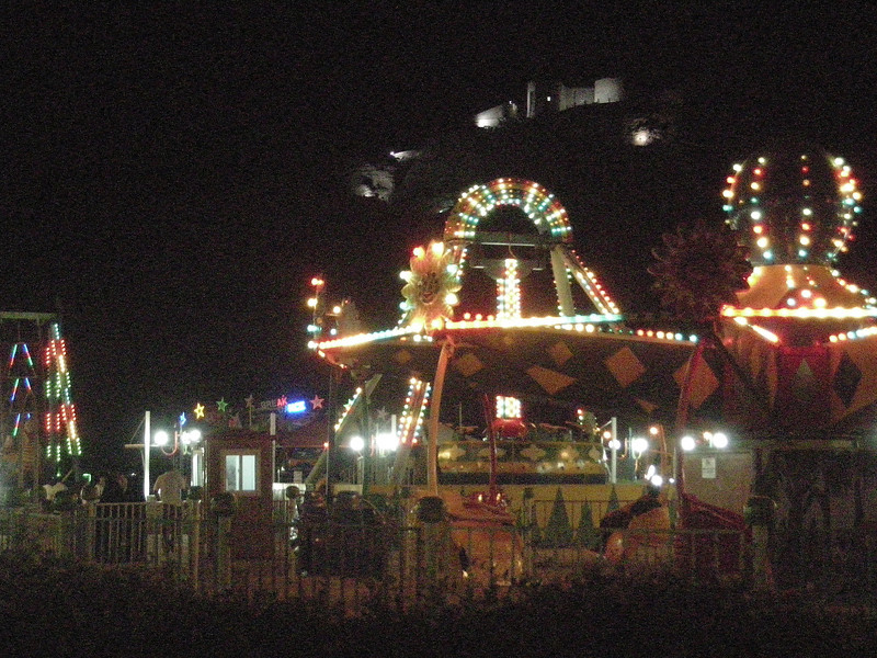 an amusement park, below Sabah Castle, in Aden