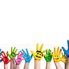 angemalte Kinderhände